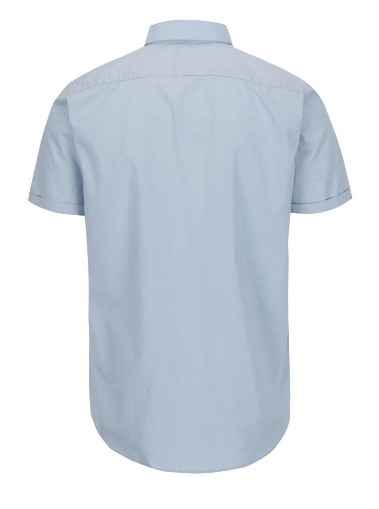 Svetlomodrá košeľa s krátkym rukávom Jack & Jones New Gavin