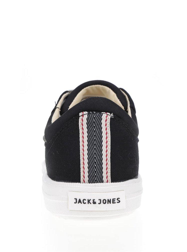 Černé pánské tenisky s bílou podrážkou Jack & Jones Mervin