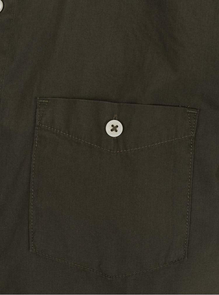 Kaki košeľa s krátkym rukávom Jack & Jones New Gavin