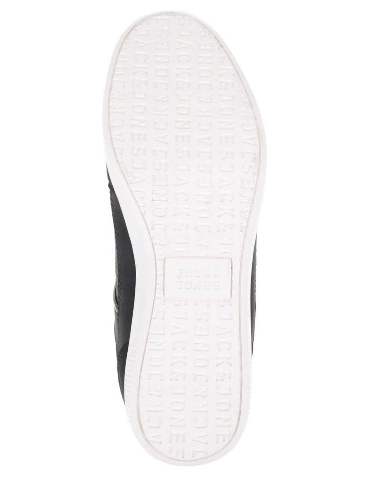 Pantofi sport negri Jack & Jones Belmont cu detalii maro