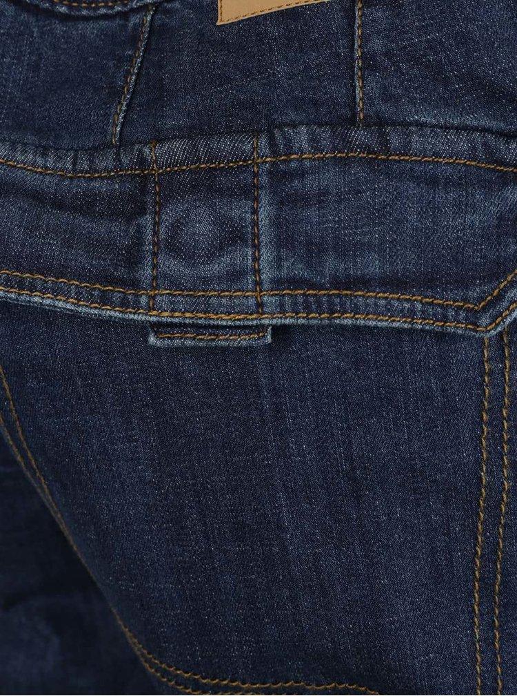 Tmavě modré pánské džínové kraťasy s kapsami JP 1880