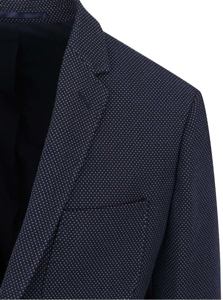 Sacou bleumarin Jack & Jones Hatfield slim fit cu model discret