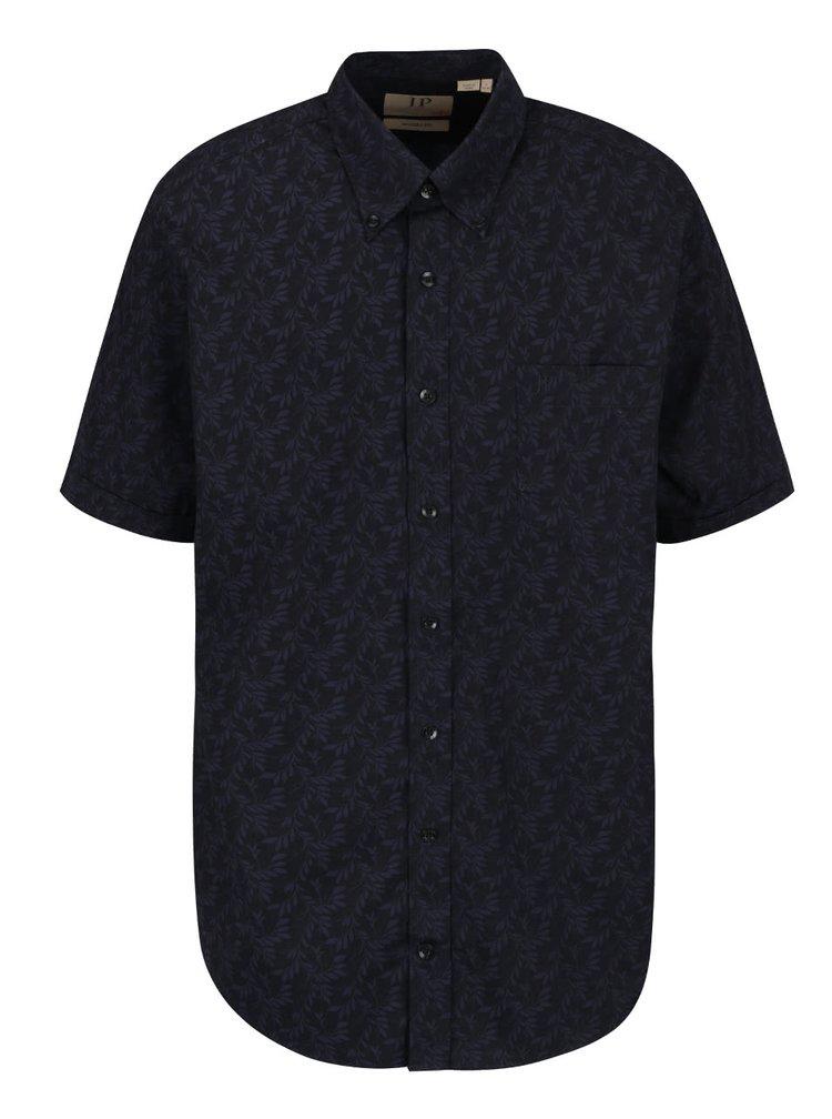 Tmavě modrá vzorovaná košile s krátkým rukávem JP 1880