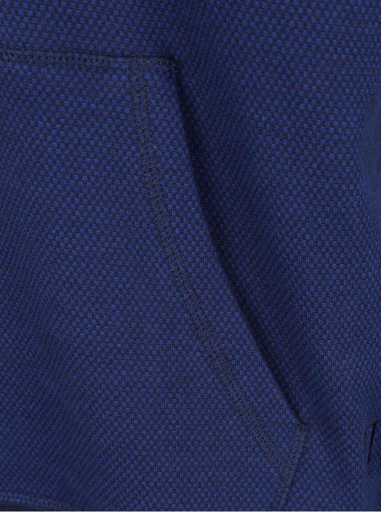 Tmavě modrá žíhaná mikina s kapucí JP 1880