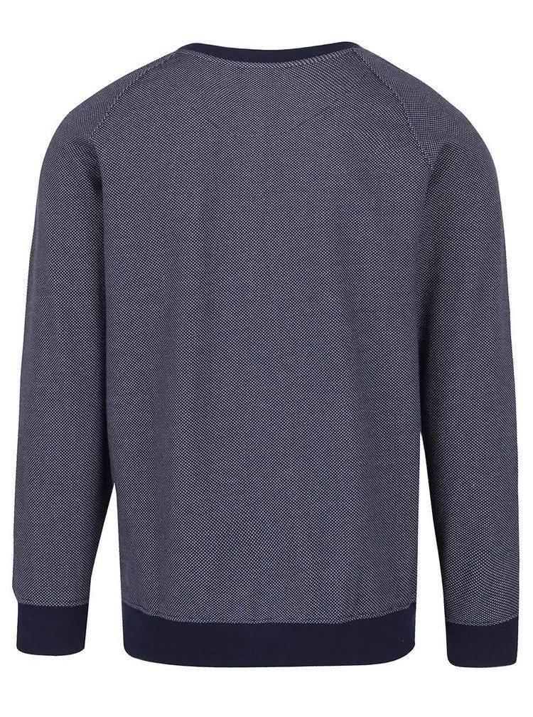 Pulover albastru închis JP 1880 cu model discret