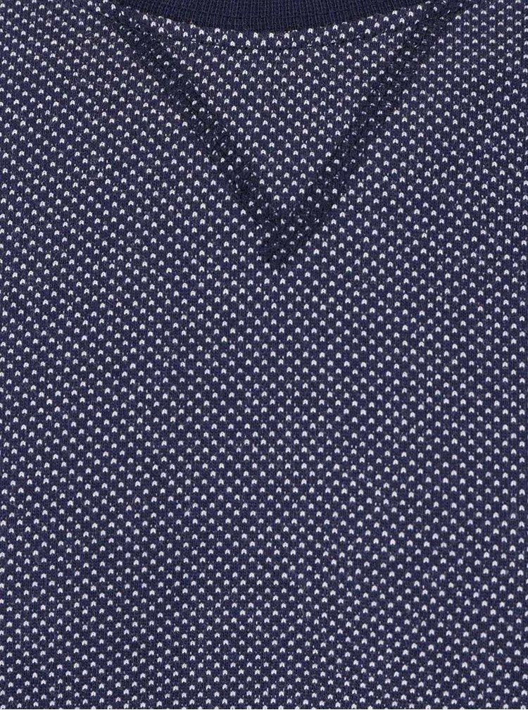 Pulover albastru inchis JP 1880 cu model discret