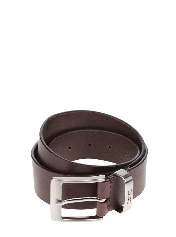 Tmavě hnědý kožený pásek Dice Carson