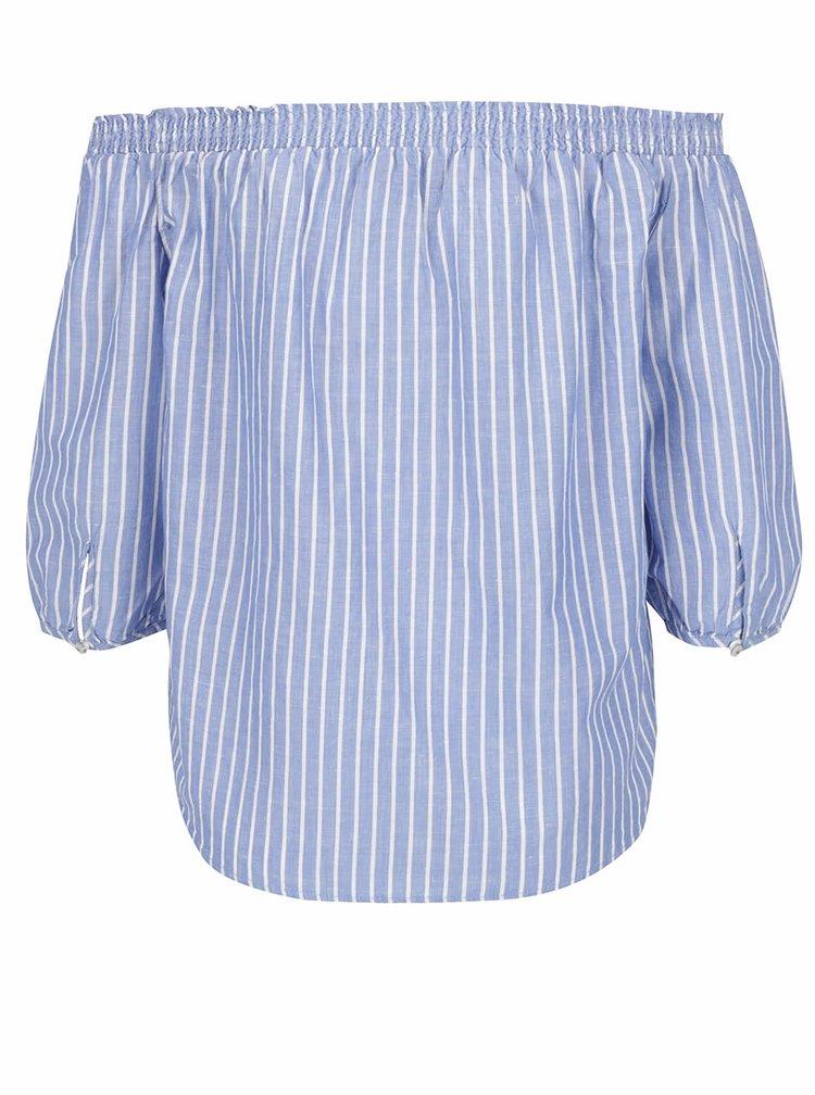 Bluză albastră ONLY Iris cu decolteu pe umeri