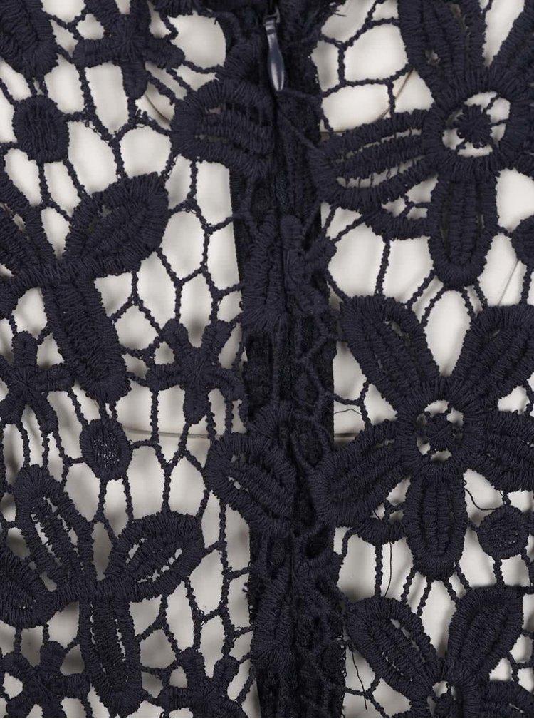 Rochie bleumarin ONLY Crochetta din dantelă