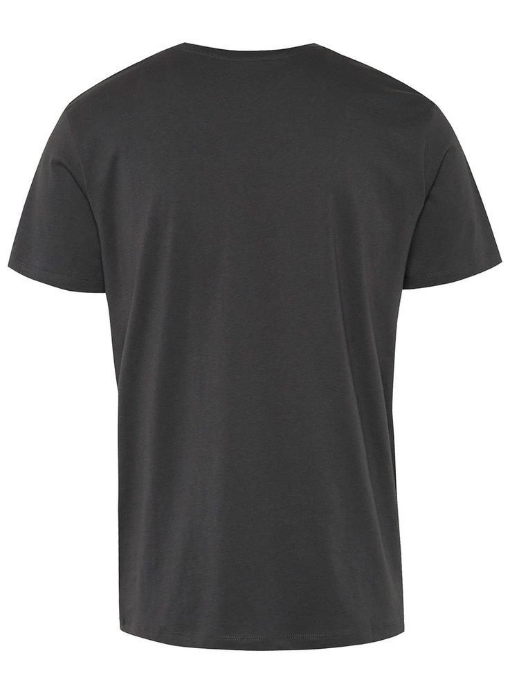 Tricou gri inchis Jack & Jones Hit din bumbac cu print