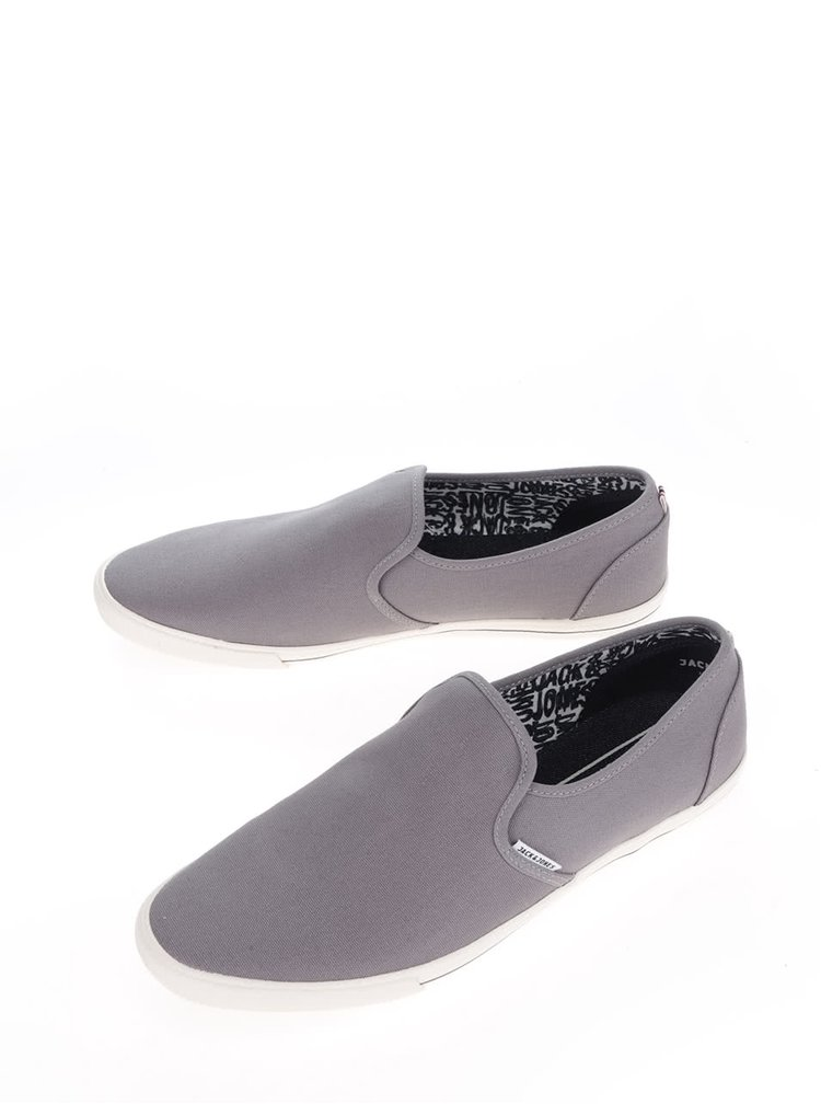 Šedé loafers Jack & Jones Snake