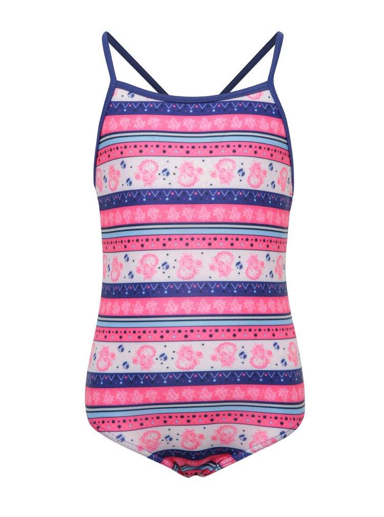 Modro-růžové jednodílné holčičí plavky name it Jungle