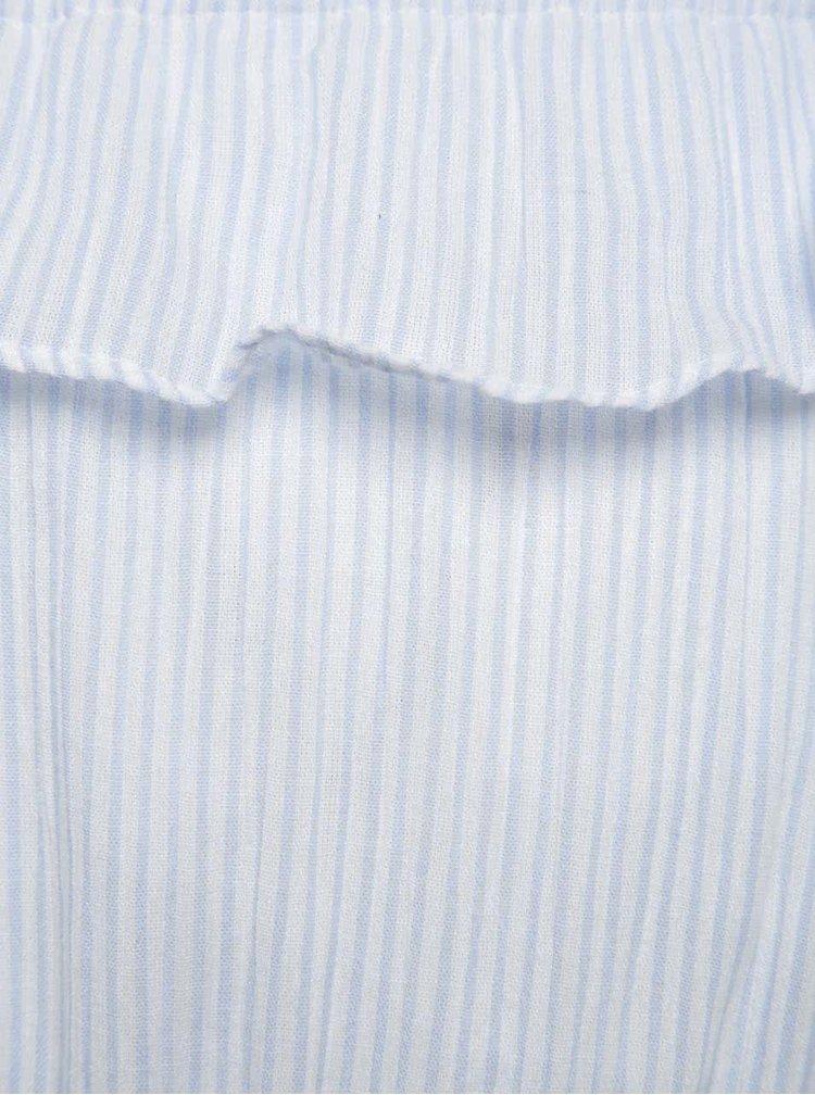 Světle modré pruhované holčičí šaty name it Kathe