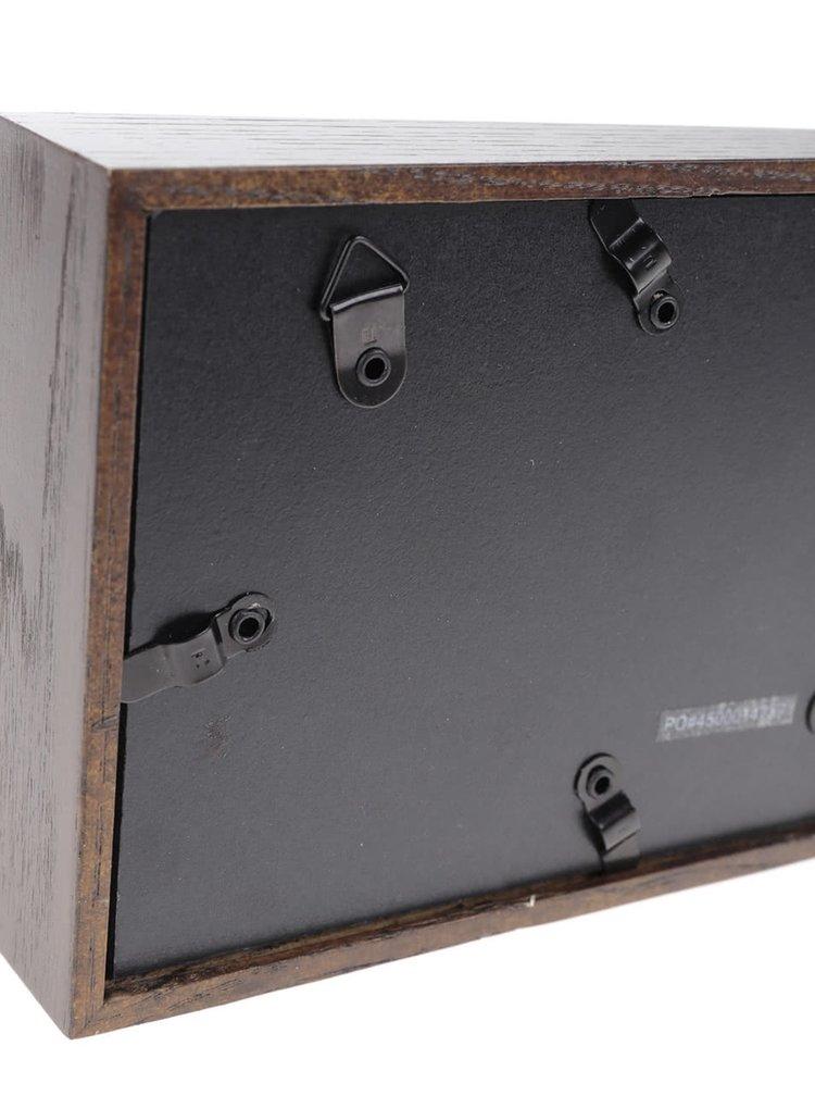 Tmavě hnědý dřevěný fotorámeček Umbra Edge