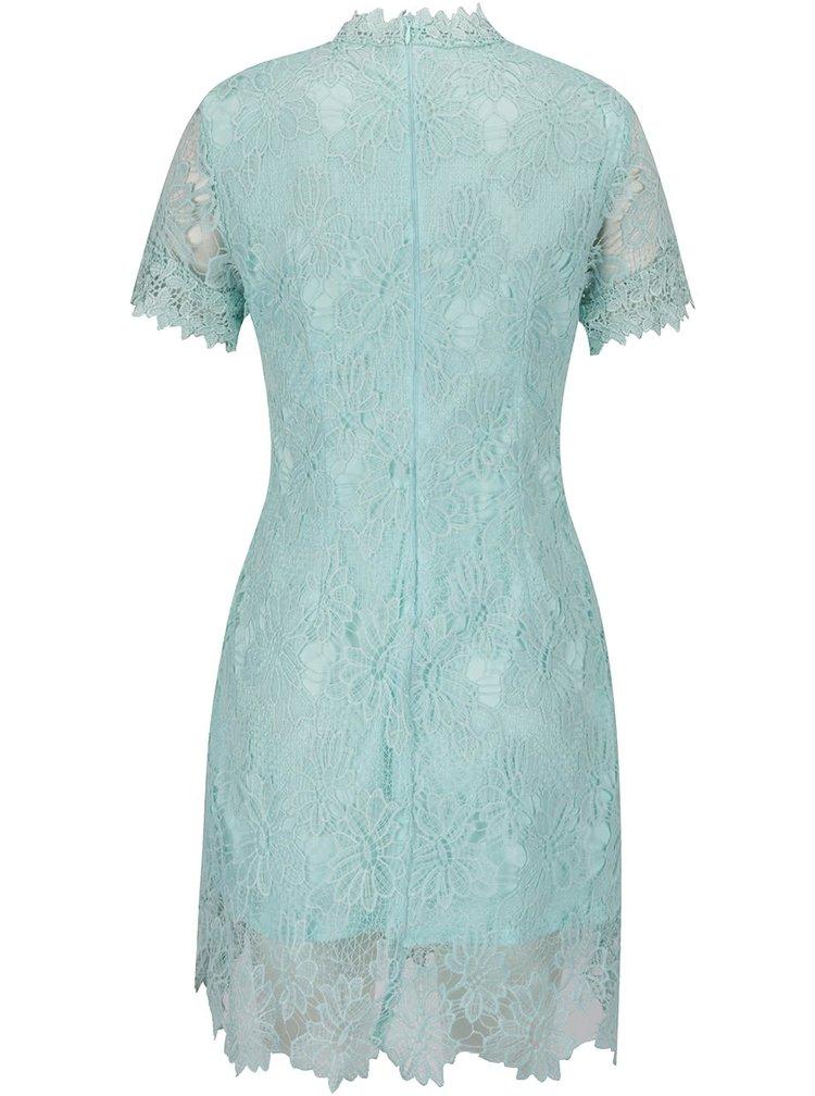 Zelené krajkové šaty s krátkým rukávem AX Paris
