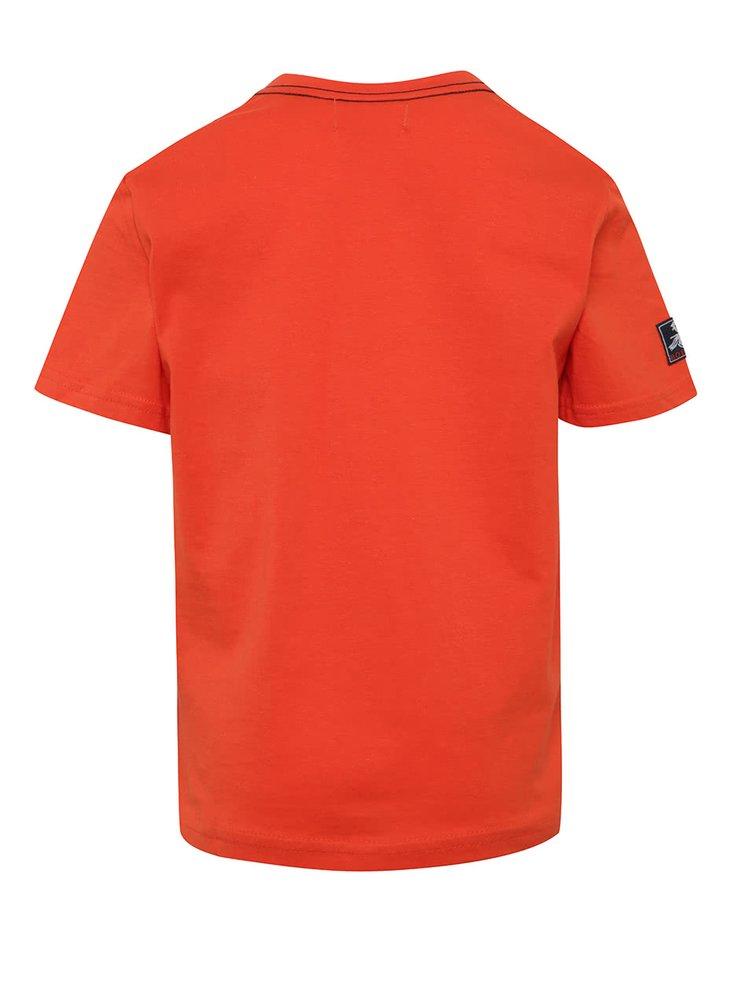 Červené klučičí tričko s potiskem Bóboli