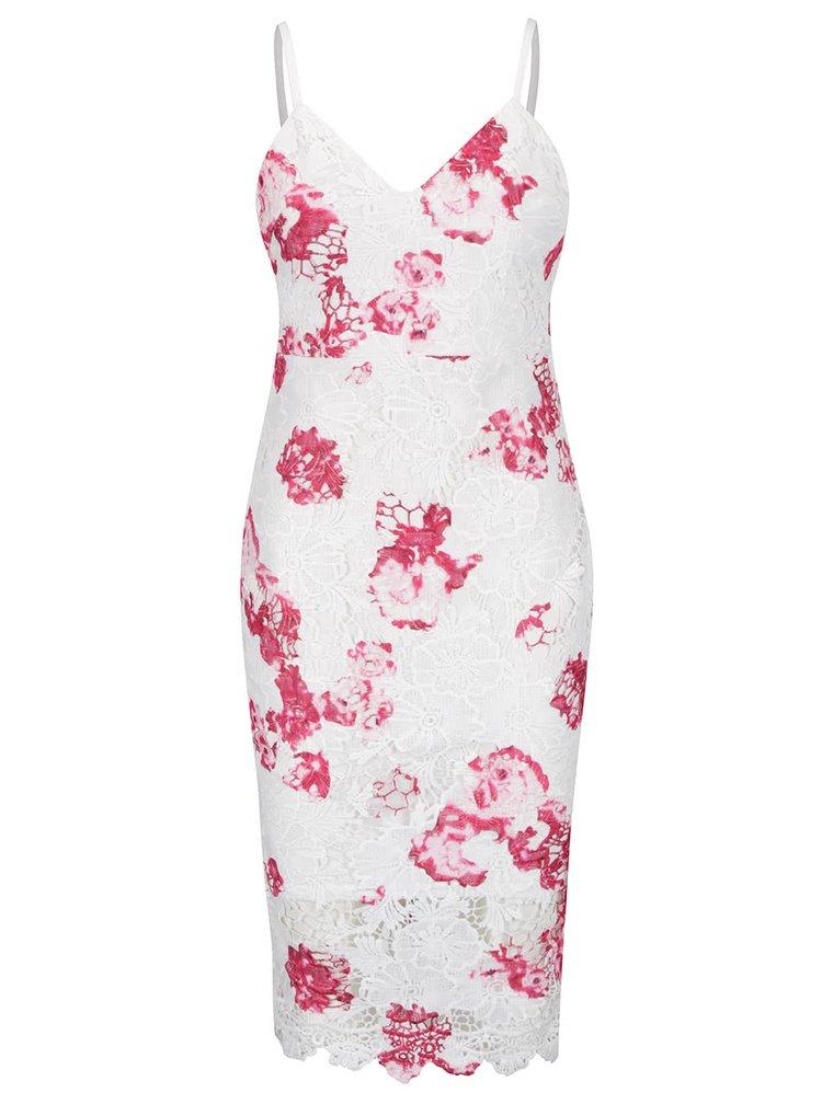 Rochie alb fildeș & roz Ax Paris din dantelă