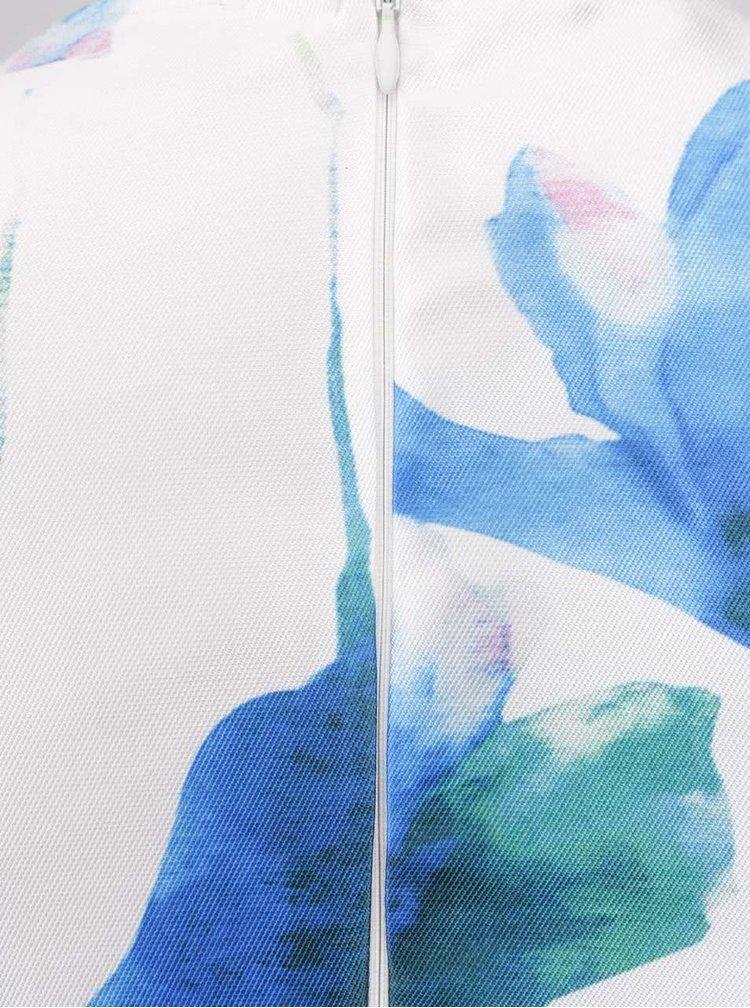 Modro-krémové květované šaty AX Paris