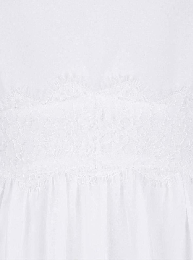 Bílé šaty s krajkovými detaily VERO MODA Lena