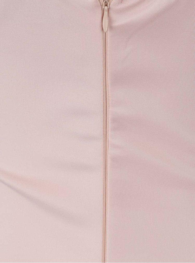 Rochie roz pal Ax Paris cu barete decorative