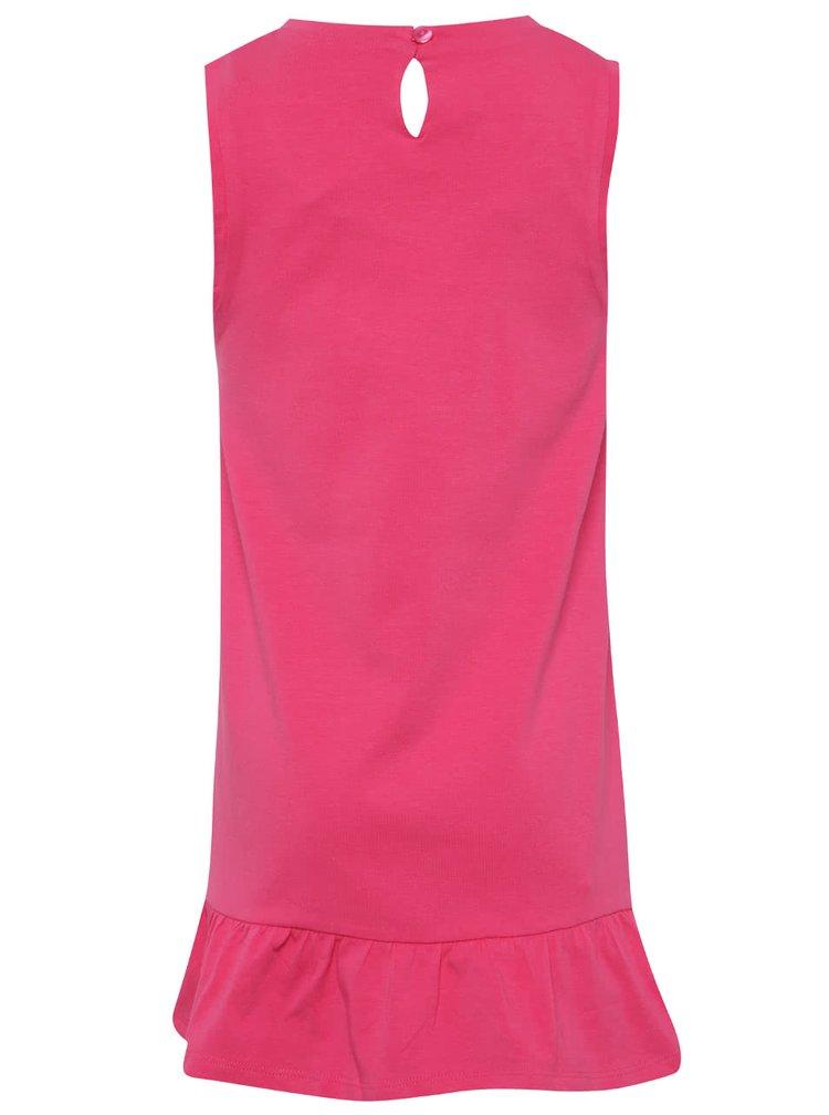 Růžové vzorované holčičí šaty Bóboli
