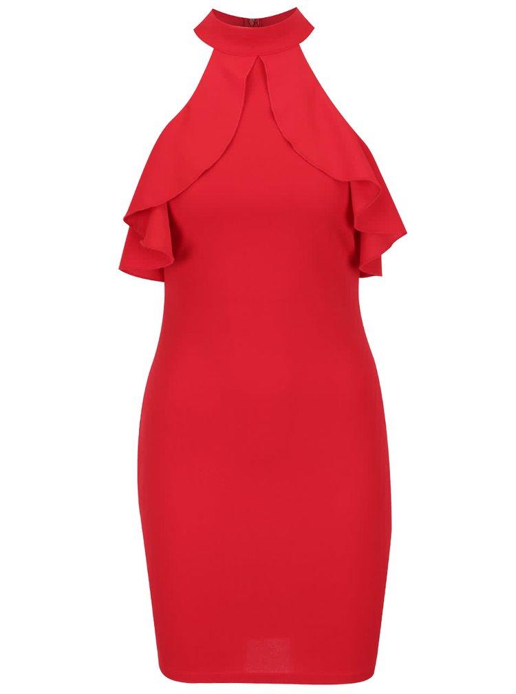 Červené šaty s odhalenými rameny AX Paris