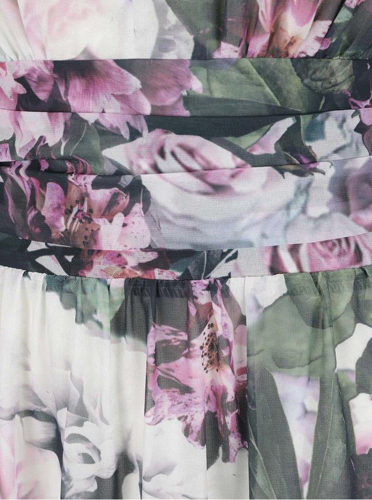 Rochie crem VERO MODA Dionne cu imprimeu floral