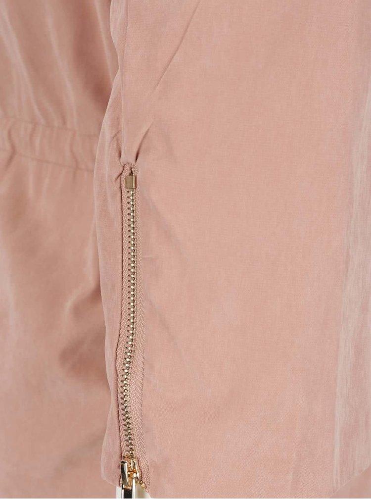 Jachetă subțire roz somon VERO MODA Kacy cu mâneci 3/4