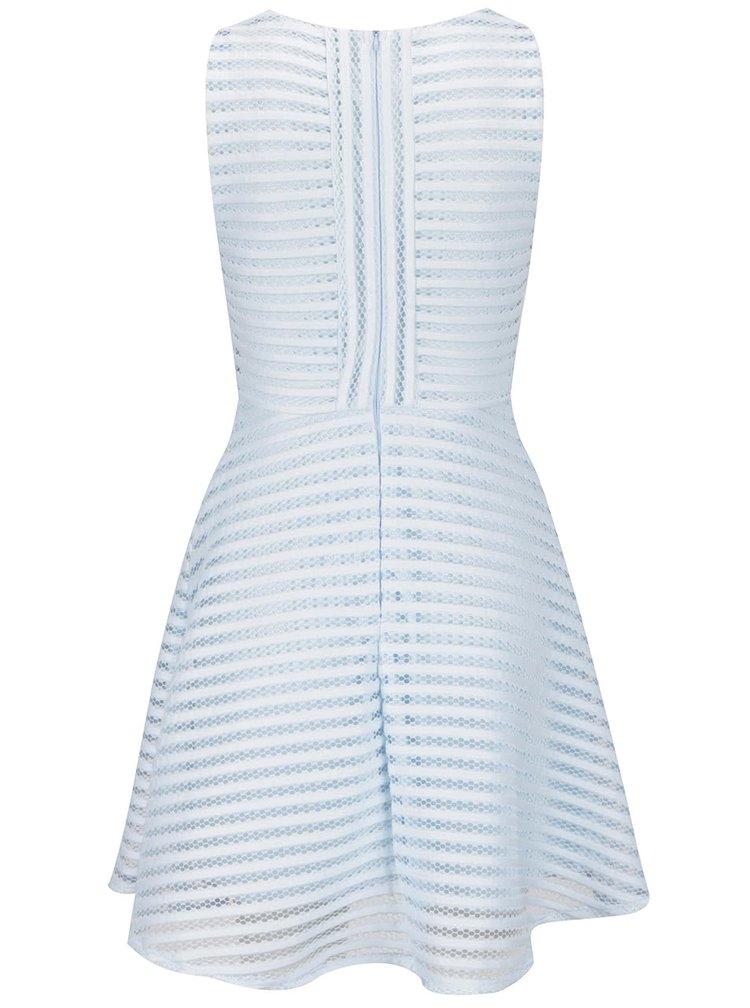 Světle modré perforované šaty AX Paris
