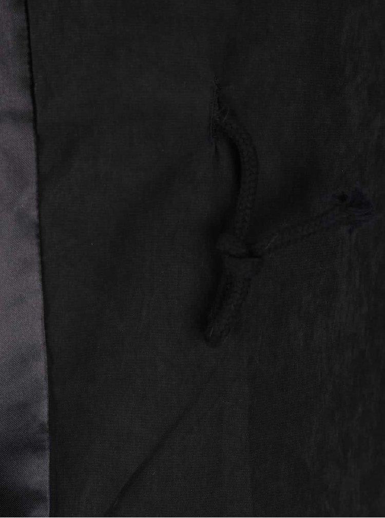 Černý krátký lehký kabát s 3/4 rukávy VERO MODA Kacy