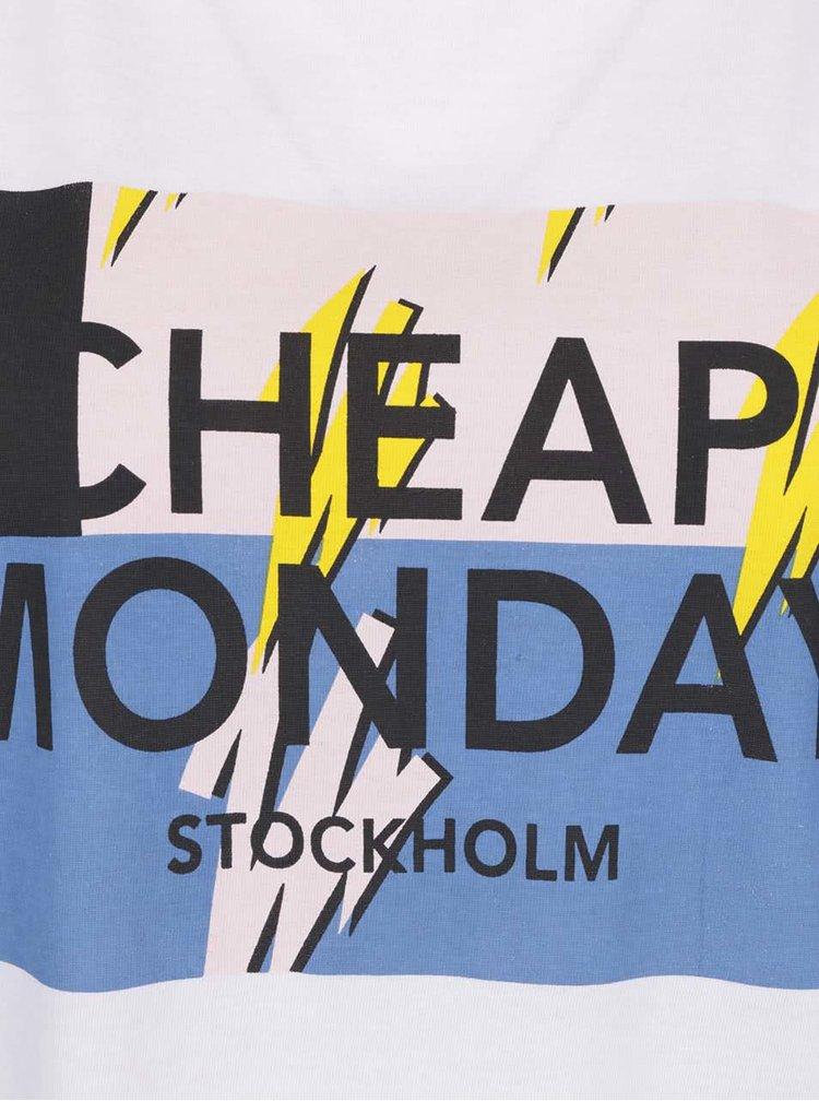 Bílé dámské tričko s potiskem Cheap Monday