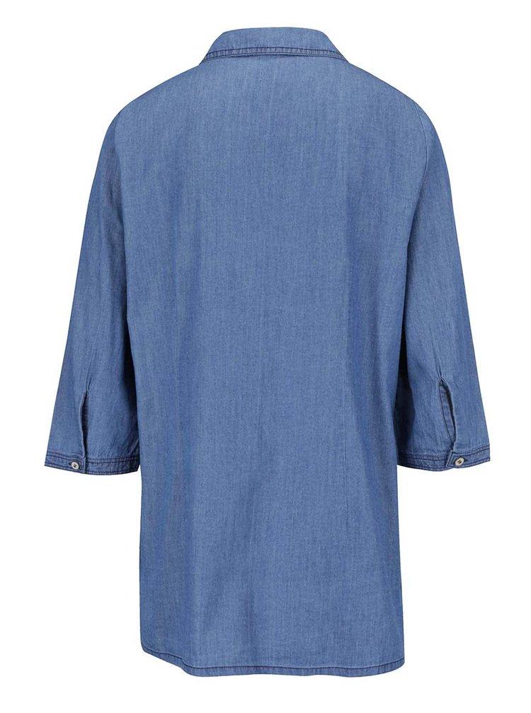 Modrá košile s tříčtvrtečním rukávem  Gina Laura