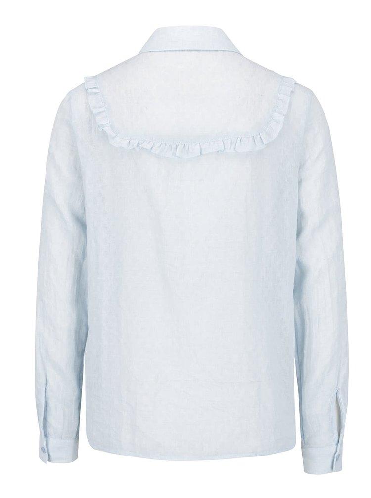 Světle modrá košile s volánky VERO MODA Jaquari