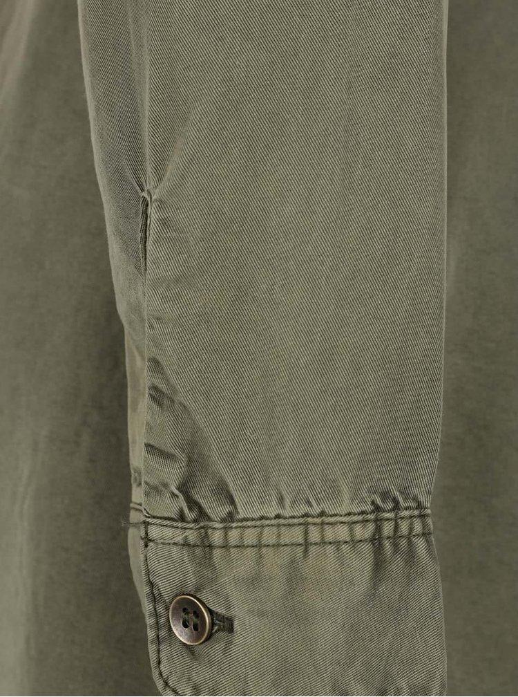 Khaki košilové šaty s páskem VERO MODA Zoe