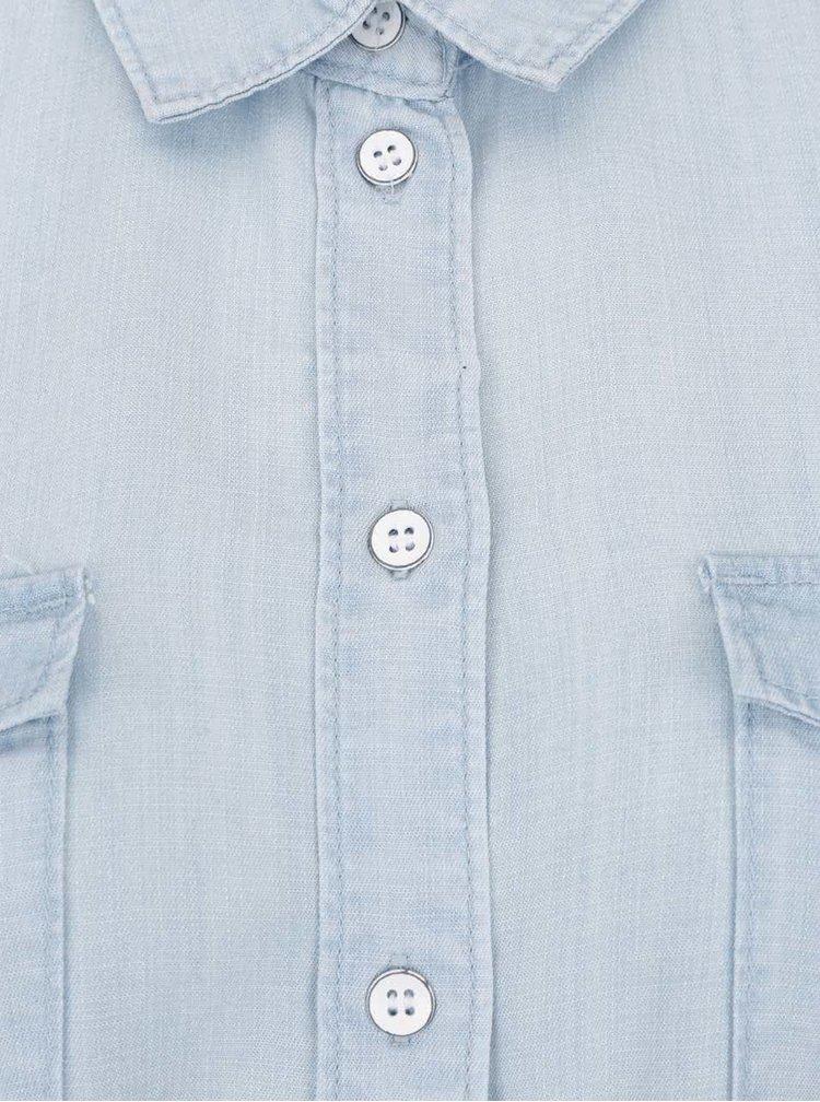 Rochie cămașă albastru deschis VERO MODA Zoe