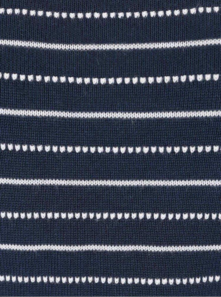 Tmavé modrý pruhovaný svetr Gina Laura