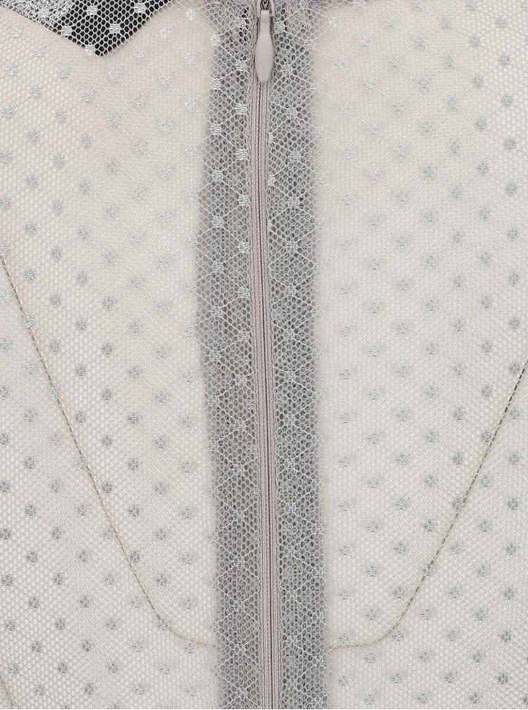 Rochie gri Ax Paris cu detalii semitransparente