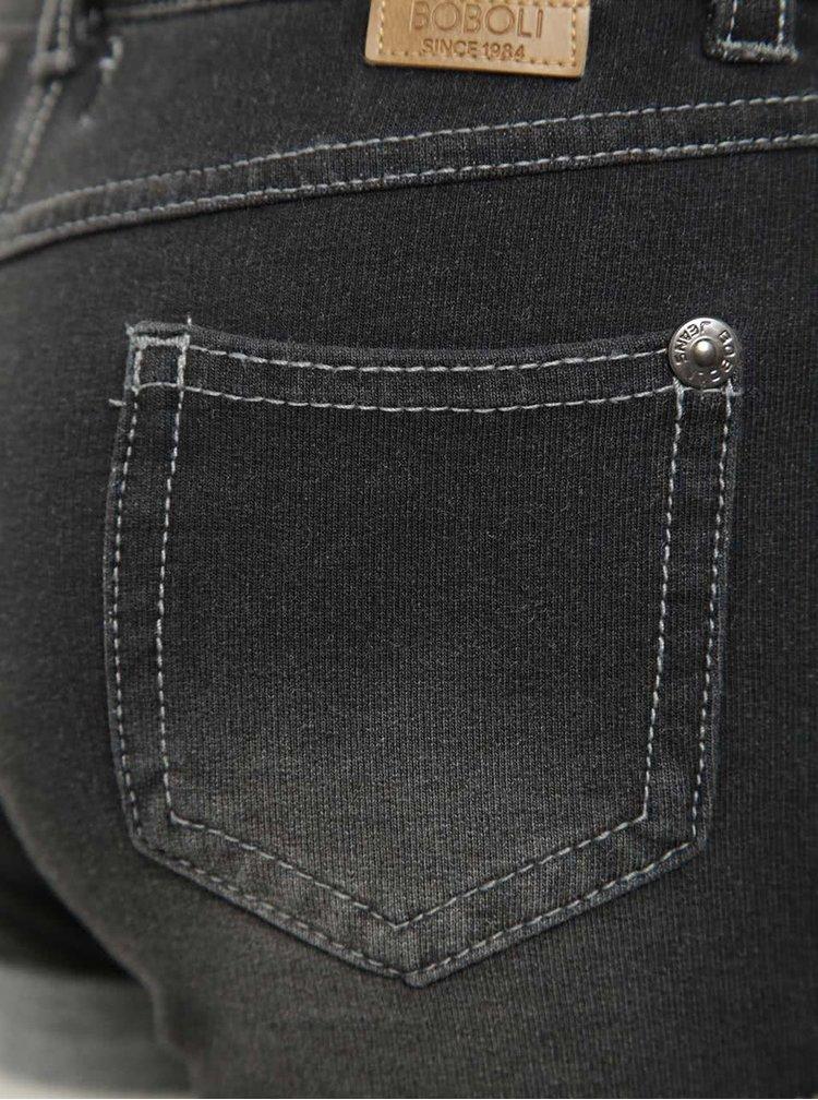 Šedé holčičí džínové kraťasy Bóboli