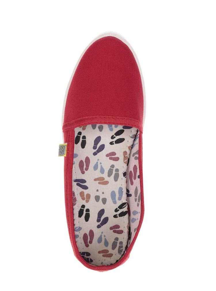 Červené dámské loafers Oldcom Canvas