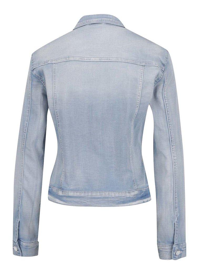 Jachetă albastru deschis VERO MODA Mora din denim