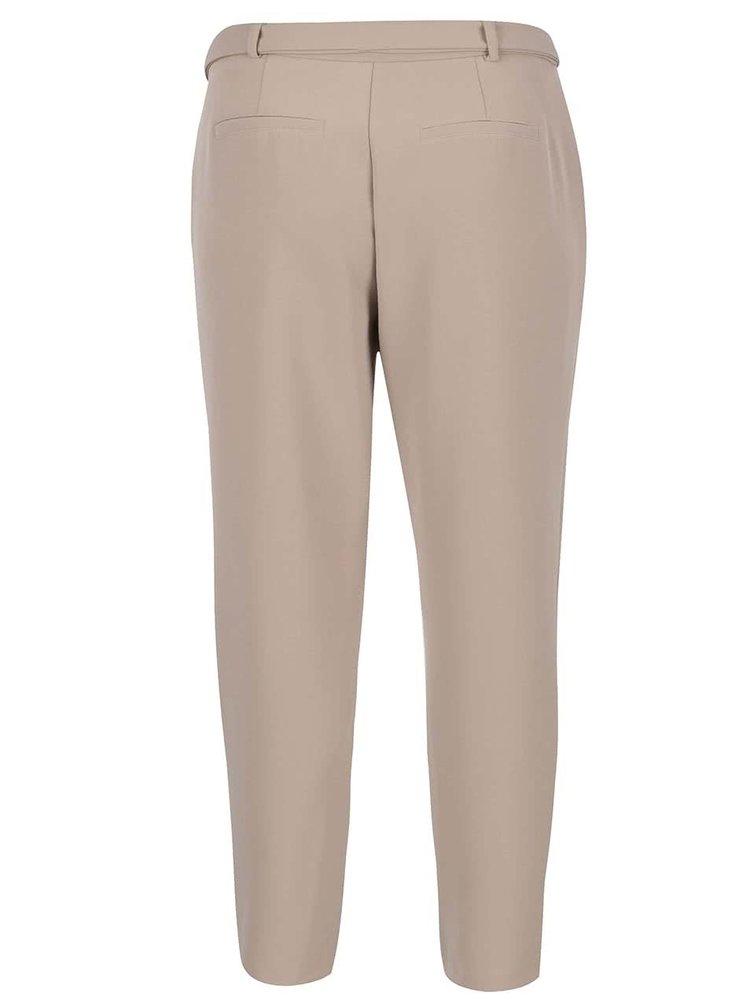 Béžové volné kalhoty s páskem VERO MODA Mags