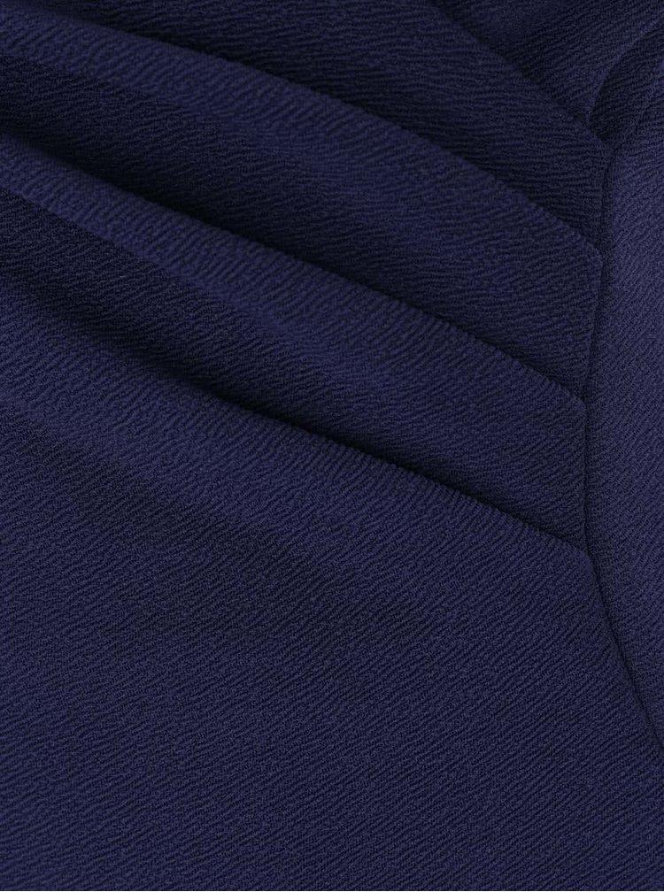 Tmavě modré asymetrické šaty s řasením Ax Paris