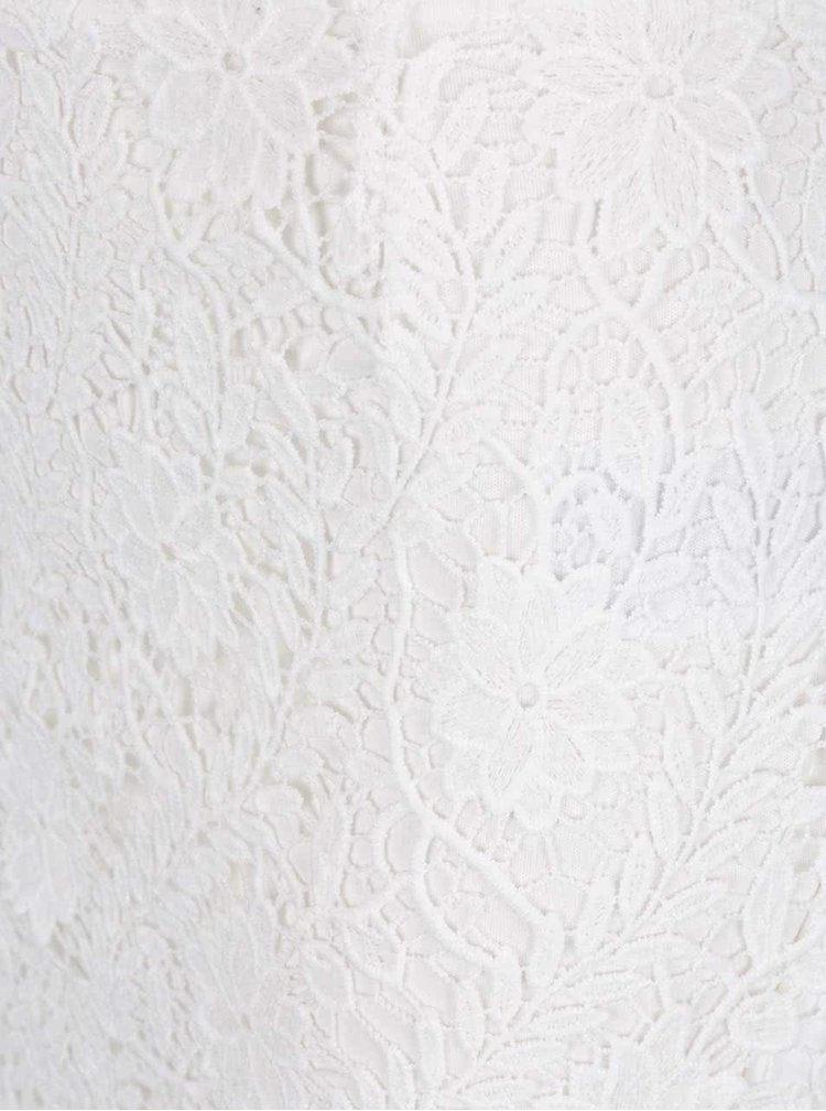 Krémová krajková sukně VERO MODA Flora