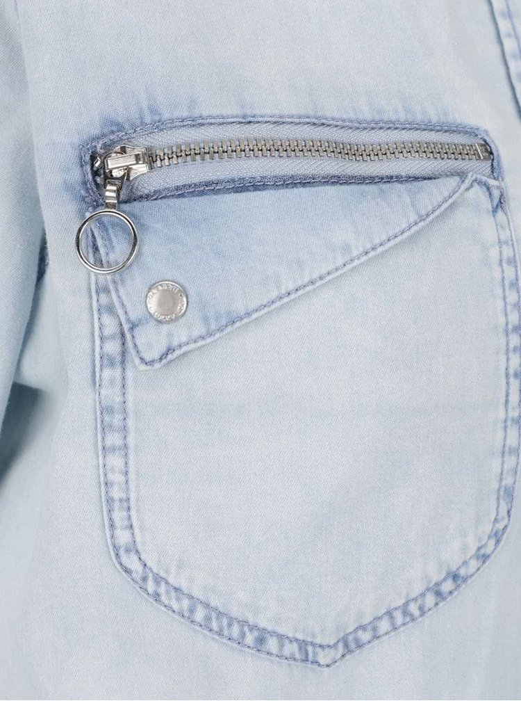 Světle modrá džínová košile VERO MODA New Pipper