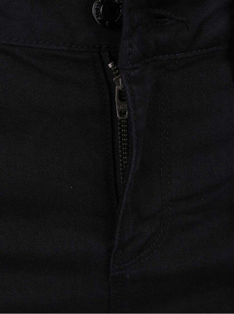 Černé džínové kraťasy s třásněmi VERO MODA Be Seven