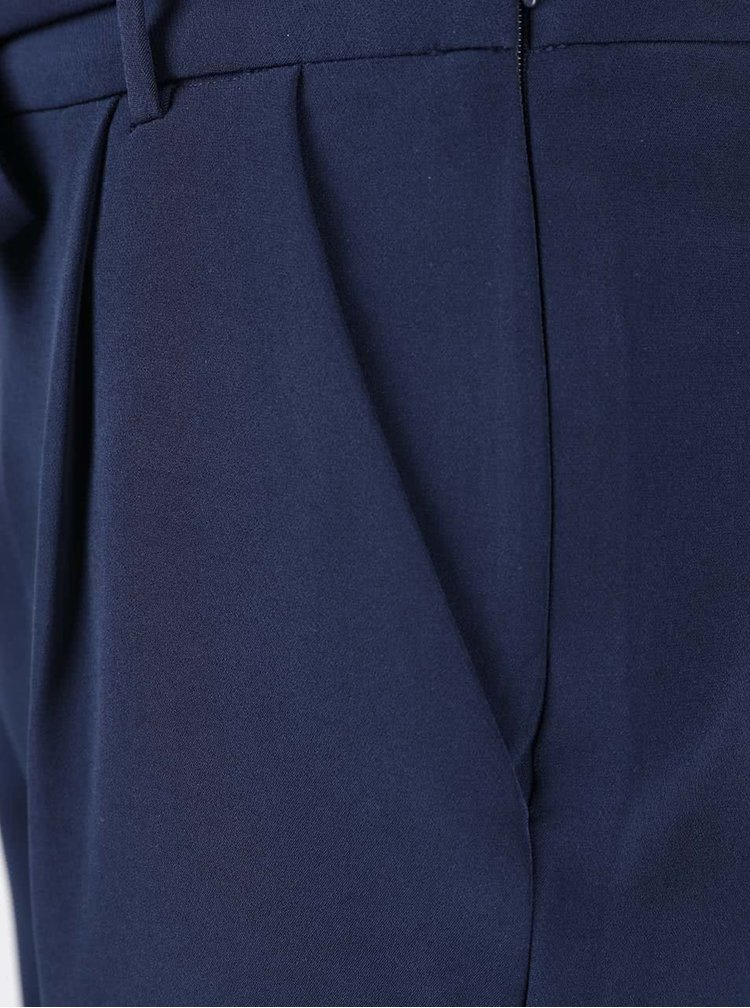 Pantaloni albastru inchis VERO MODA Mags cu cordon in talie