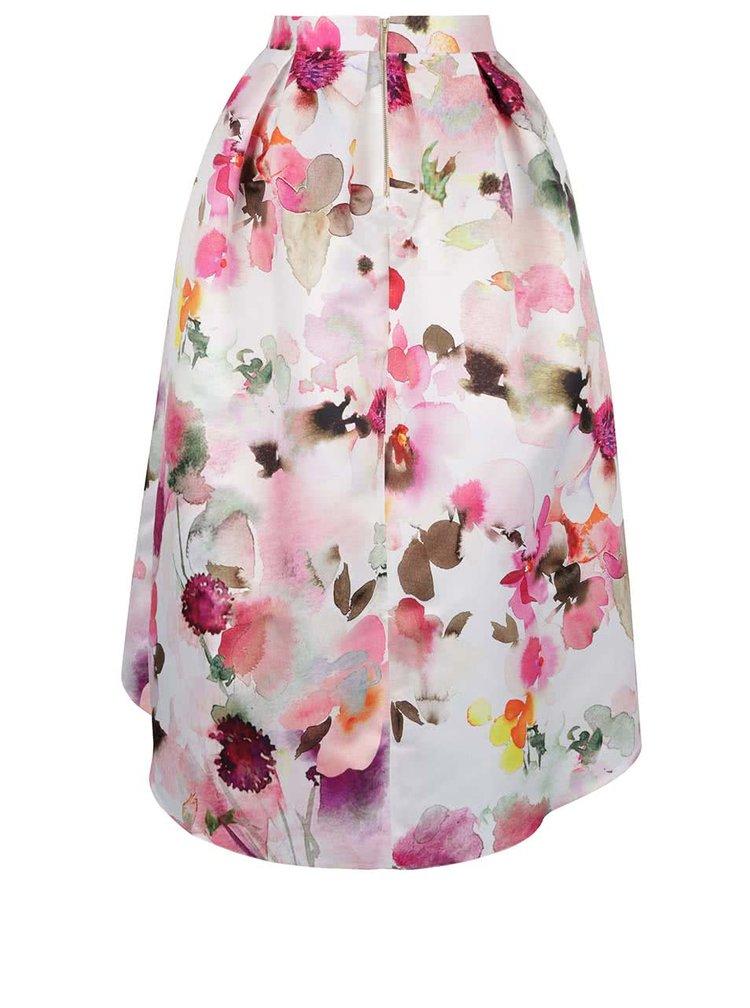 Fustă roz&crem Closet cu imprimeu watercolour floral