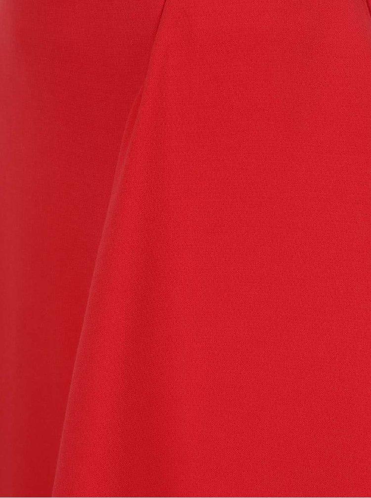 Fustă roșie Closet cu volan amplu