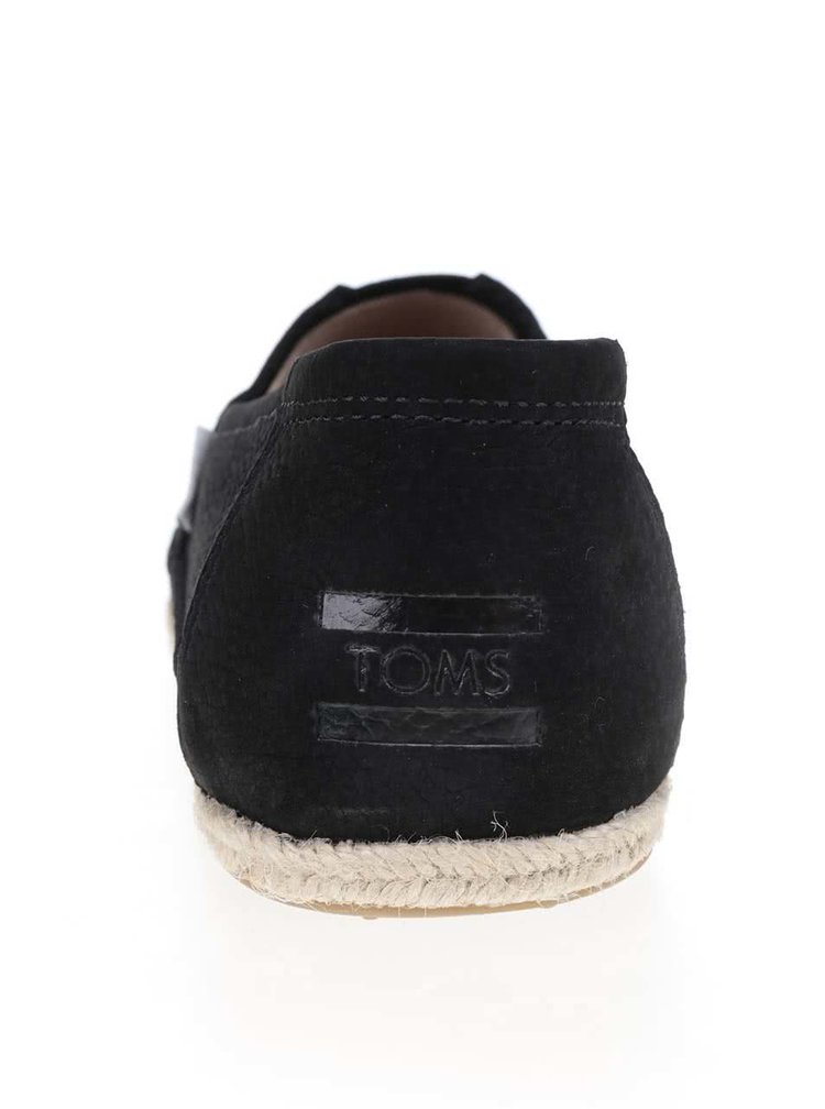 Černé pánské kožené espadrilky TOMS