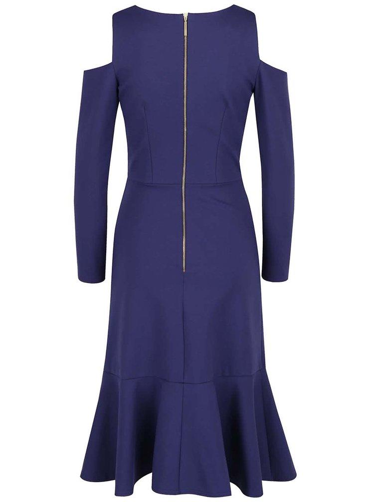 Tmavě modré šaty s průstřihy na ramenou Closet